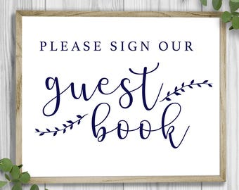 Guest Book Sign - Printable | Digital Download | Wedding Sign | Emma Theme