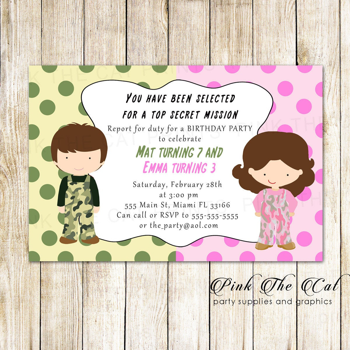 Twins invitation twins girl boy invitation brother sister zoom kristyandbryce Gallery