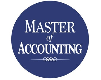 "Master of Accounting 2-1/4"" Button or Magnet"