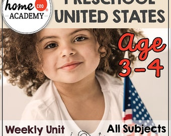 Homeschool Preschool USA Unit - DOLLAR DEAL