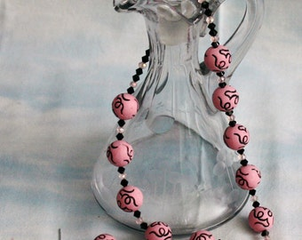 Swirls necklace and earring set