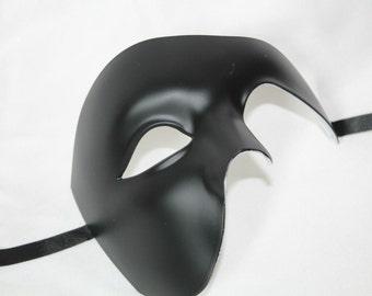 Black Half Face Phantom Masquerade Mask