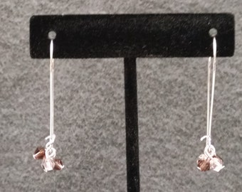 Rose Crystal Cluster Earrings by Sparrow