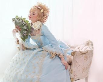 Custom Fantasy Sparkle Marie Antoinette Upscale Halloween Costume