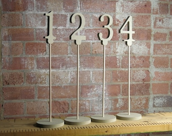 Table Numbers on stick and stands Free Standing for DIY painting for weddings and parties