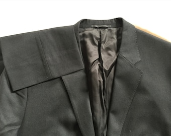 Newer Vintage Theory Black Suit 44 Jacket, 34 Pants