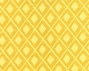 Yellow Geometric Ikat fabric from the Simply Colorful collection by V and Co for Moda Fabrics