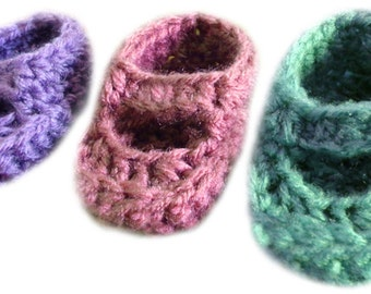 Baby Mary Jane Booties (3 Sizes) - PDF Crochet Pattern - Instant Download