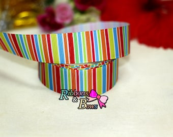 "Rainbow  Grosgrain Ribbon 7/8 "",Rainbow  Ribbon, 7/8""Rainbow  Ribbon"