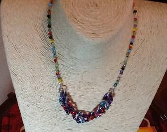 Crystal Necklace and Byzantine jersey