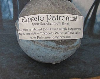 Harry Potter inspired Expecto Patronum potion bath bomb