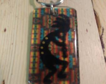 Southwest Kokopelli Keyring Hand Painted KR002