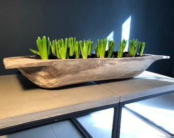 Large Wooden Display Trough