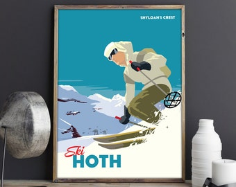 Star Wars Hoth Ski Resort | Travel Poster |  Unframed
