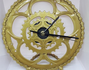 Upcycled 8.5 in diameter desk clock  (Price includes shipping)