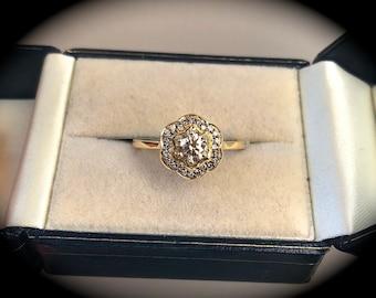 "Argyle Natural Diamond Ring 18ct Yellow Gold 0.50ct ""CERTIFIED"" Beautiful Piece"