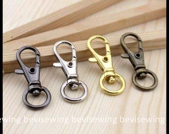 1 Set of 10 Pcs Lobster Clasps in 10mm / Color: Black / Sliver / Golden / Bronze / Purse Bag Accessory
