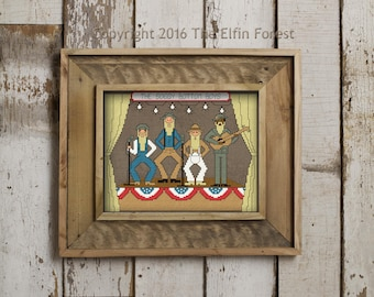 Soggy Bottom Boys Cross Stitch Pattern Instant Download Digital PDF Oh Brother Where Art Thou