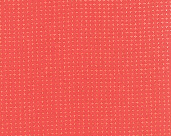 Tucker Prairie, Fabric by the Yard, One Canoe Two, Moda Fabrics, Dot Check in Coral Bells, Coral Fabric, Cotton Fabric, 36006 15