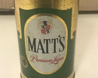 Matt's Premium Lager Early Pull Tab Circa 1960's