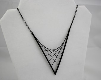 3D PRINTED Parabolic Suspension Necklace