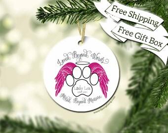 Memory Of Pet Gift | Pet Memorial | Dog Gift | Cat Gift | Pet Memorial | Cat Lover | Dog Lover | Loss of a Pet | Pawprint | Personalized Pet