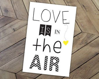 """Love card """"LOVE IS IN THE AIR""""..."""