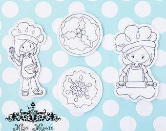 Baking Cookies coloring doll set