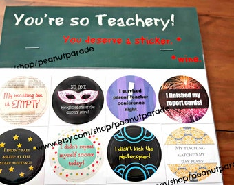 You Adulted Today! [TM] Adulting Reward Stickers - The Teacher Edition! 'You're So Teachery!' Peanut Parade