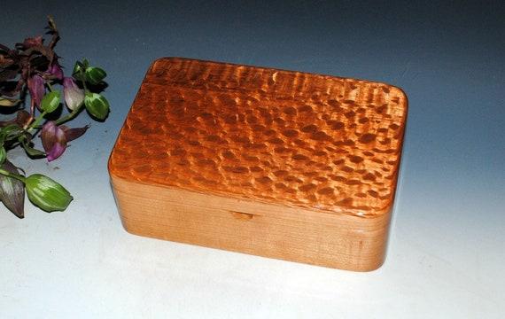 Wood Stash Box, Wood Jewelry Box, Treasure or Keepsake Box- Lacewood on Cherry - Handmade Box - Wooden Jewelry Box By BurlWoodBox - Wood Box
