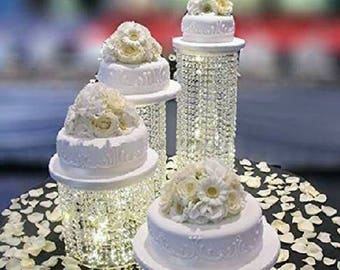 Wedding Centerpiece For Table/Cake Stand For Wedding/crystal Cake Stand/gold  Cakestand/wedding Cake Stand Set/ Acrylic Cake Stand/Wedding