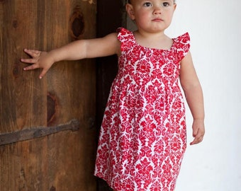INSTANT DOWNLOAD- Tatum Dress (Size 12/18 months to Size 10) PDF Sewing Pattern and Tutorial