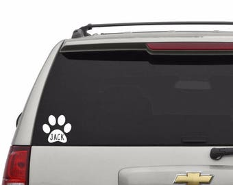 Pet Print Decal Personalized with Name