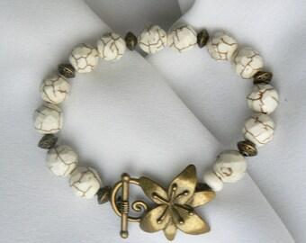 Agate Brass bracelet