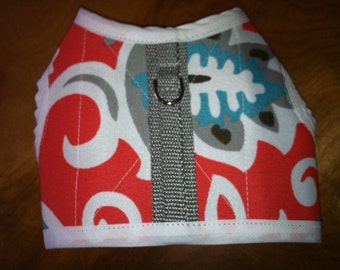 """SALE 14-16"""" chest South Beach Print Small Dog Harness"""