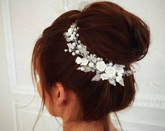 Pearl Bridal hair comb, Wedding hair comb, Bridal headpiece, Wedding headpiece, Bridal hair piece, Wedding hair piece