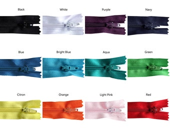 11 inch Rainbow Pack of Zippers - 30 Pieces - You Pick Colors