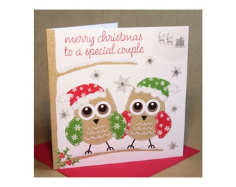 Christmas Special Couple Card  (jewelled)