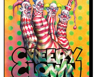 Creepy Clown Coloring Book - Adult