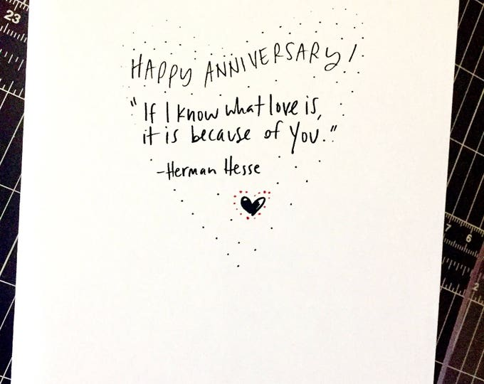 Anniversary for her cards ~ Sidesandwich paper co handmade greeting cards from a nerd her