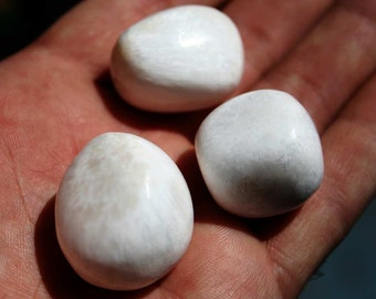 Scolecite Crystal Tumbled Polished Large White Stone