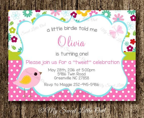 Bird invitation bird baby shower invitation bird invite