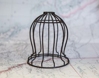 Vintage Industrial Light cage.