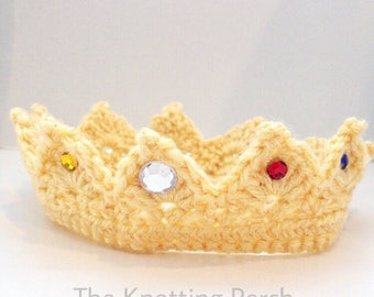 Newborn Prince Crown, newborn baby boy photo prop, baby prince, boy coming home outfit, baby king crown, crown photo prop, hospital hat