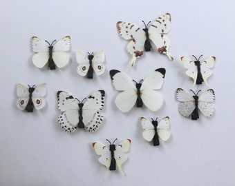 White Butterfly Hair Clips