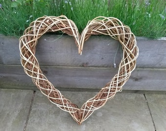 Natural Willow Heart wreath fireplace decoration