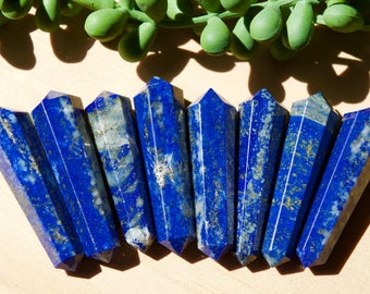 Double Terminated Lapis Lazuli Wand Point, Small Lapis Lazuli Double Sided Wand Point, Reiki Healing, Gemstone Point, Wands, Generator