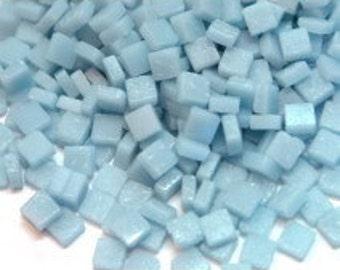 8mm Micro Mosaic Craft Tiles - Powder Blue Matte - 50g / 1.75 oz (approx. 95 tiles)