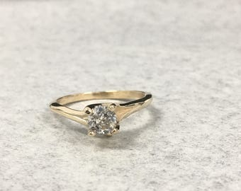 14KT Ladies Diamond Engagement ring .36ct size 6 ~~~ free shipping and sizing