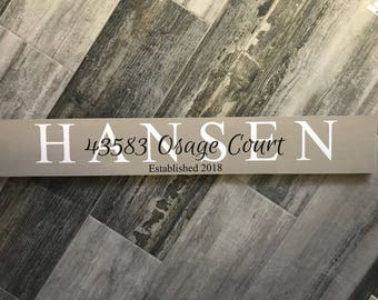 Family name sign, last name sign, last name first name sign, family established sign, family names, family name wood sign